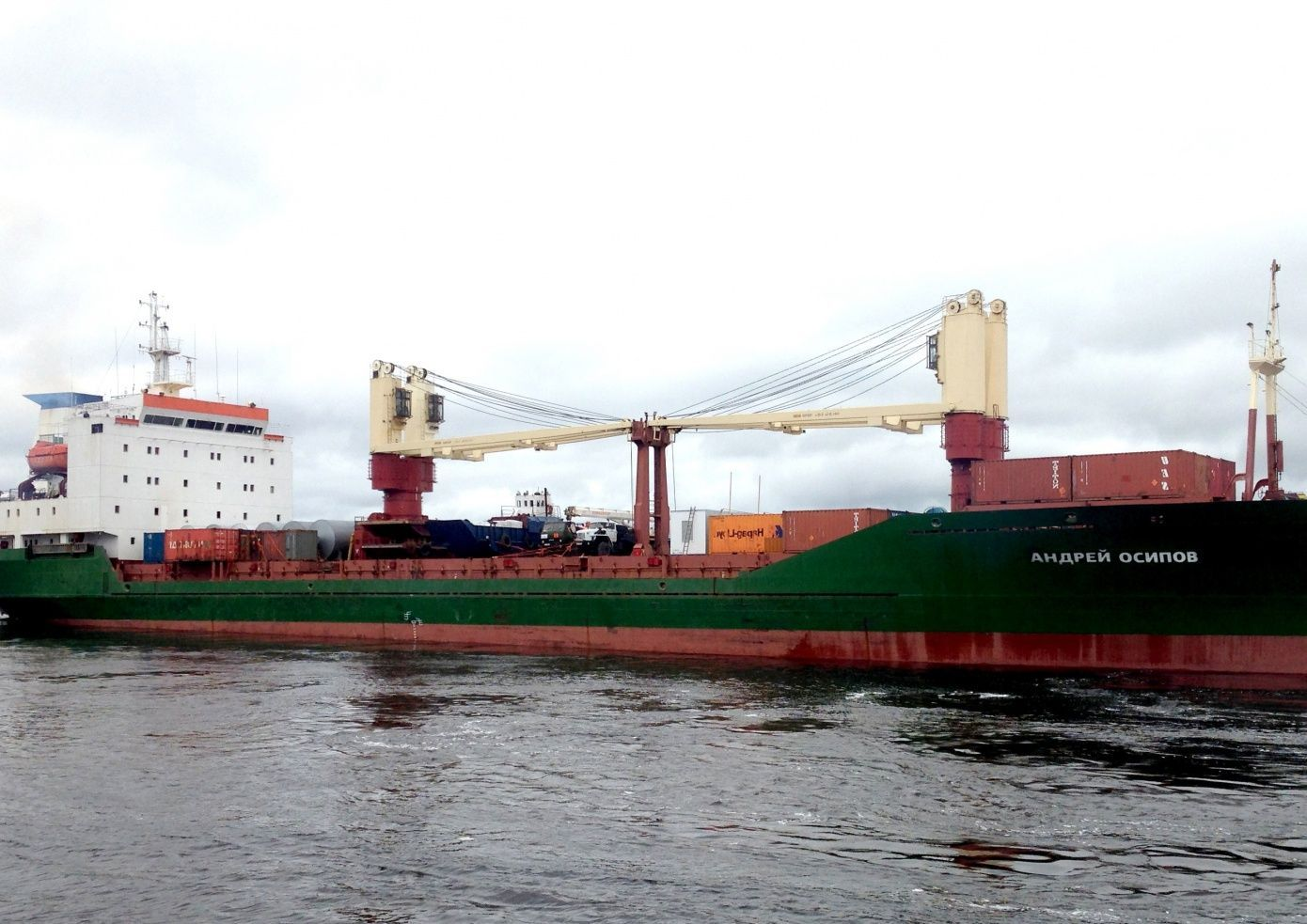 Andrey Osipov ship delivers cargo to Sabetta from Zeebrugge
